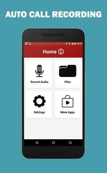 Auto Call Audio Recorder Free poster