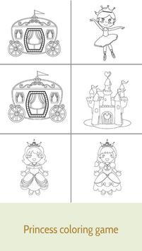 Kids coloring book Princess screenshot 1