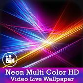 Neon Multi Color HD Video Live Wallpaper icon