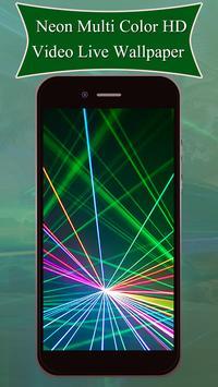 Neon Multi Color HD Video Live Wallpaper poster