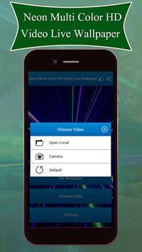 Neon Multi Color HD Video Live Wallpaper screenshot 3