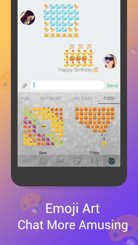 Emoji Keyboard KK GIF Screenshot 6