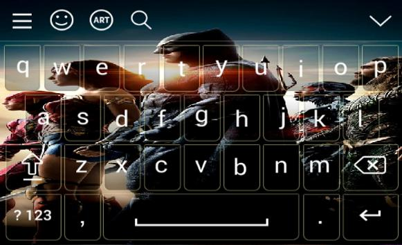 Keyboard for Justice League screenshot 3