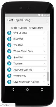 Best English Songs MP3 screenshot 4