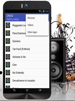 CNCO Quisiera Letras & Musica screenshot 1