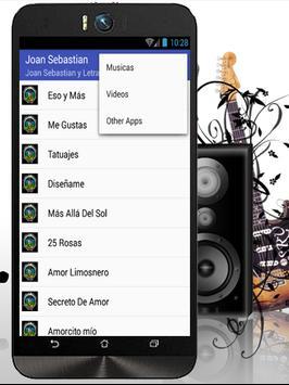 Joan Sebastian MeGustas Letras screenshot 1