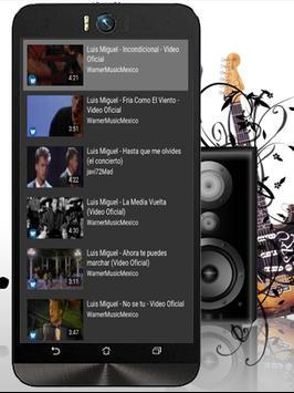 La Incondicional Luis Miguel apk screenshot
