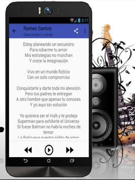 Romeo Santos Eres Mia Musicas تصوير الشاشة 3