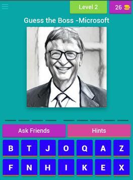 Guess The Boss Word Puzzle apk screenshot