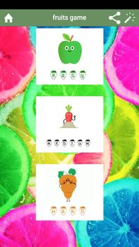 fruits game poster