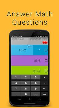 Quick Color Math Stripes poster