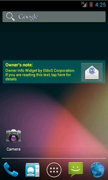 Owner Info Widget poster