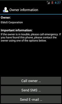 Owner Info Widget screenshot 1