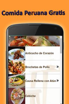Peruvian Food Free screenshot 3