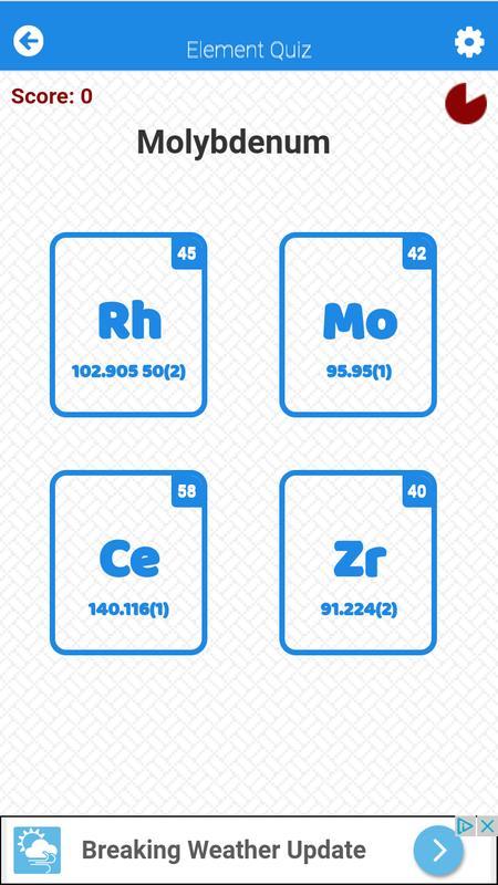 Periodic table element quiz apk download free educational game for periodic table element quiz apk screenshot urtaz Image collections