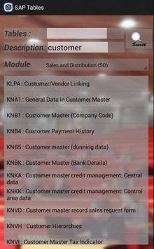 SAP Tables screenshot 3