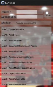 SAP Tables screenshot 1