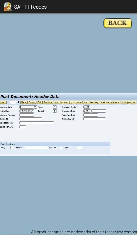 SAP FI Tcode with Screenshots for Android - APK Download