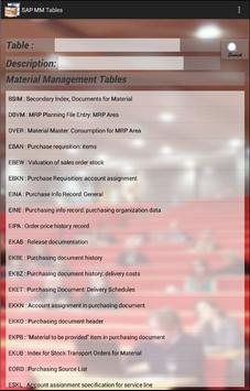 SAP MM Tables with Fields for Android - APK Download