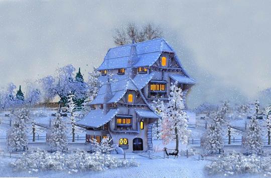 Winter House live wallpaper screenshot 5