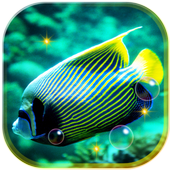 Fishes Sea Tropical live wallpaper icon