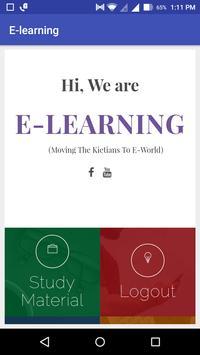 KIET E-Learning poster