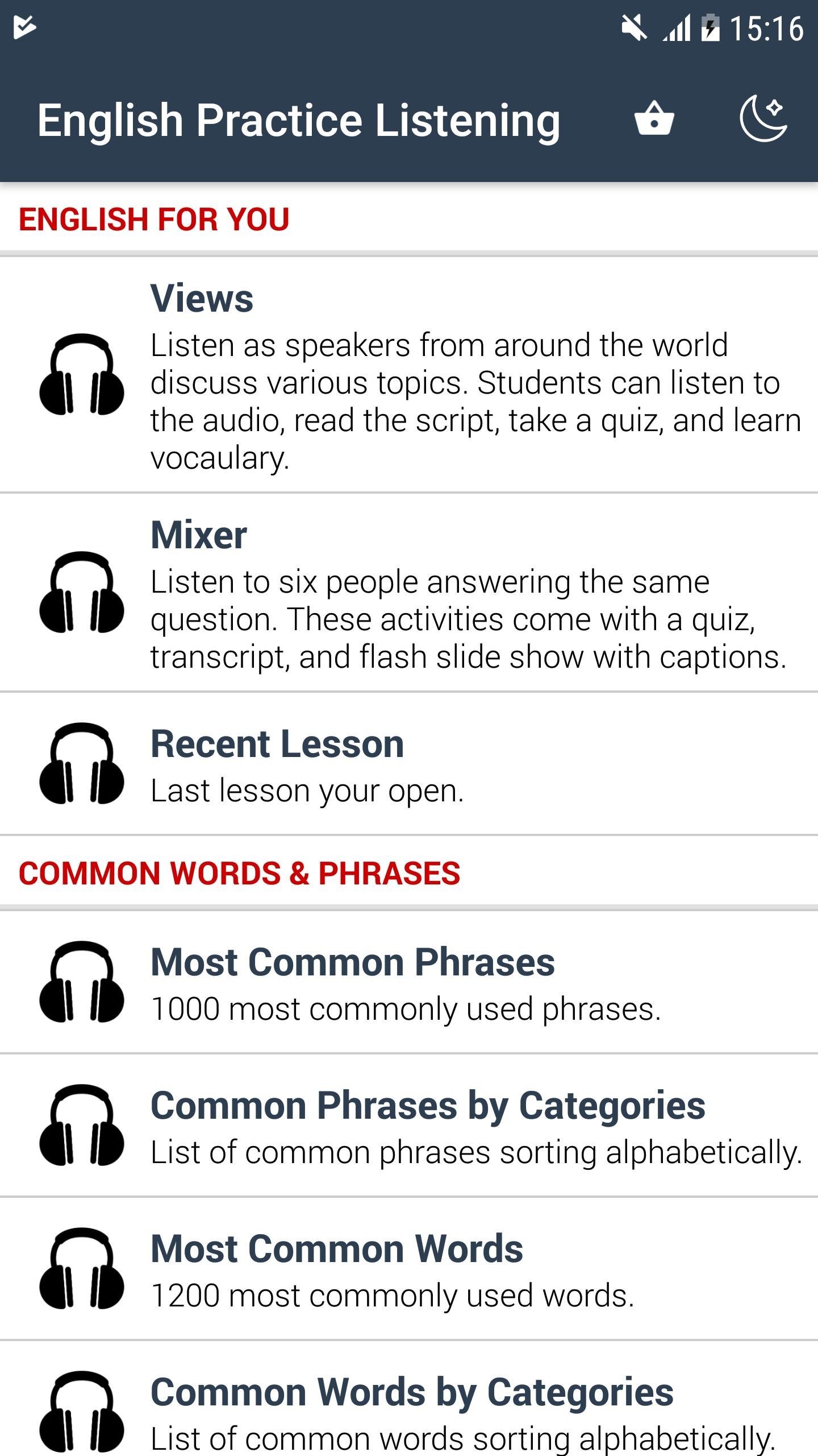English Listening Practice for Android - APK Download
