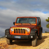 Wallpaper with Jeep Wrangler icon