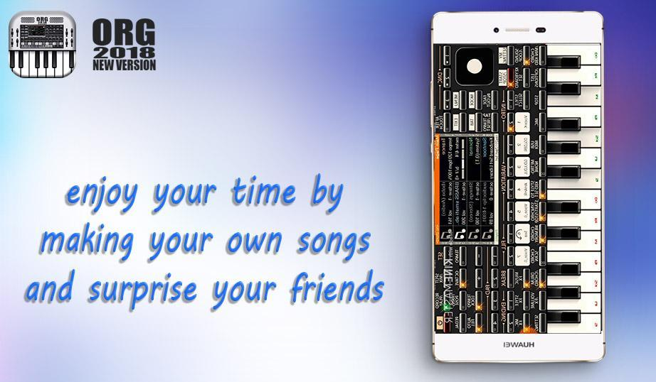 Virtual Electronic Org Organic piano plus 2018 for Android - APK