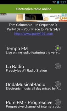Electronica radio online apk screenshot