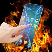 Fire electric screen prank icon