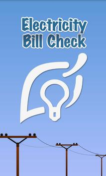 ELECTRICITY BILL Check poster