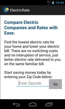 Electric Rate Finder poster