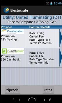 Electric Rate Finder screenshot 1
