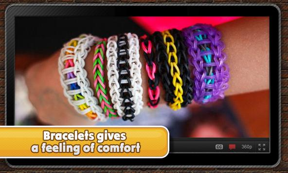 Elegant rubber bracelets apk screenshot