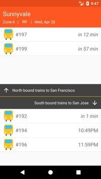 CalChooChoo: Material Caltrain Schedule Explorer apk screenshot