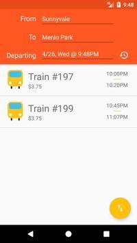 CalChooChoo: Material Caltrain Schedule Explorer screenshot 1
