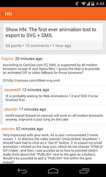 Clementine Free - Hacker News apk screenshot