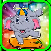 Elephant Kid Skate Run icon