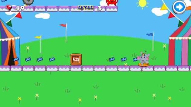 Elephant Kid Skate Run screenshot 1