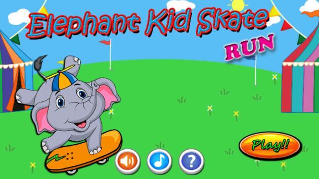 Elephant Kid Skate Run screenshot 2