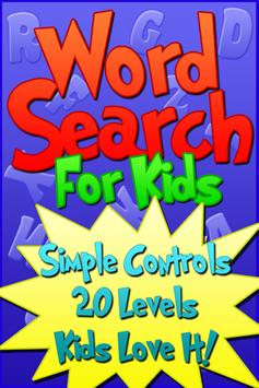 Word Search For Kids Free poster