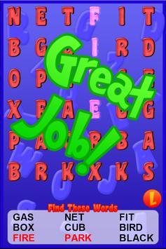Word Search For Kids Free apk screenshot