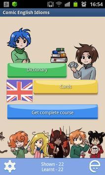 Comic English idioms Free poster