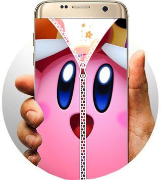 Kirby Zipper Lock Screen screenshot 1