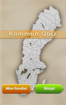 Kommun Quiz poster