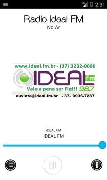 Radio ideal fm 98.7 poster