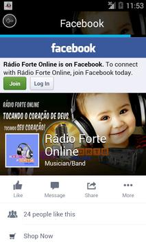 Rádio Forte Online screenshot 1