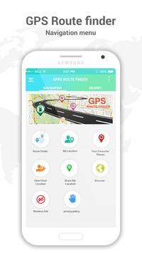 GPS Route Finder & Navigation poster