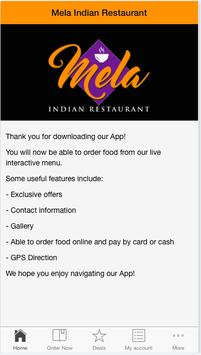 Mela Indian Restaurant screenshot 1